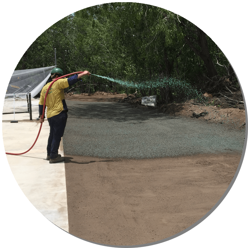 Spray grass services being performed in Darwin